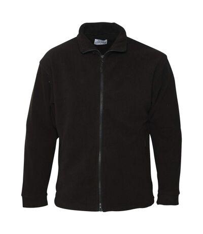 Absolute Apparel Mens Brumal Full Zip Fleece (Black Opal) - UTAB131