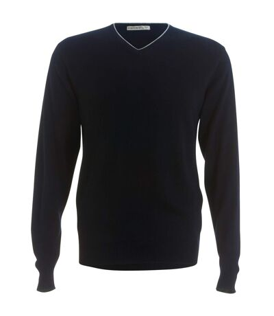 Kustom Kit Mens Contrast Arundel Sweater (Navy/ Silver Grey) - UTRW3904