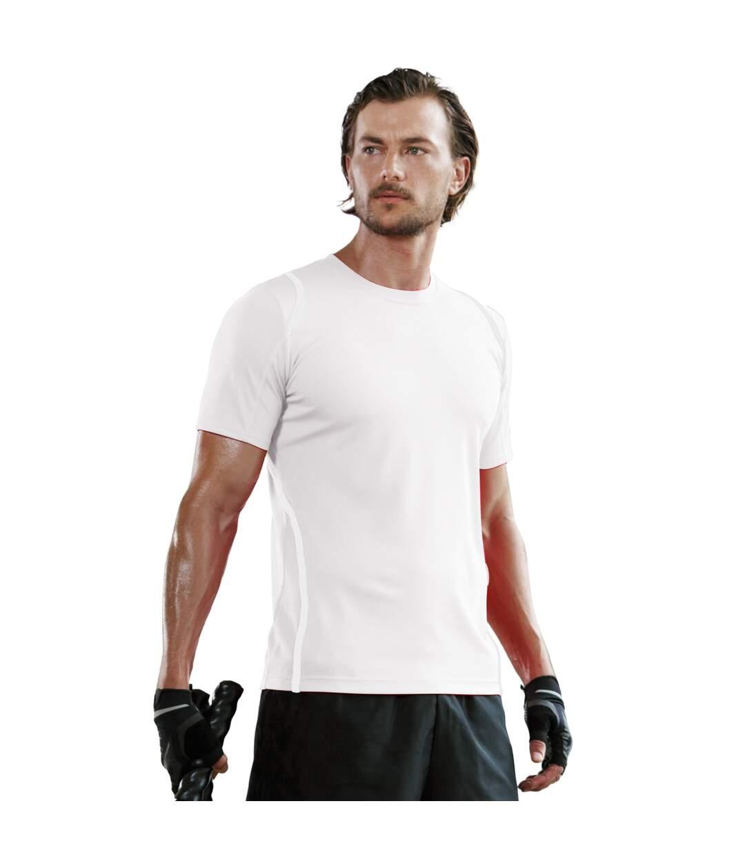 Gamegear® Cooltex® Short Sleeved T-Shirt / Mens Sportswear (Black/Red) - UTBC451