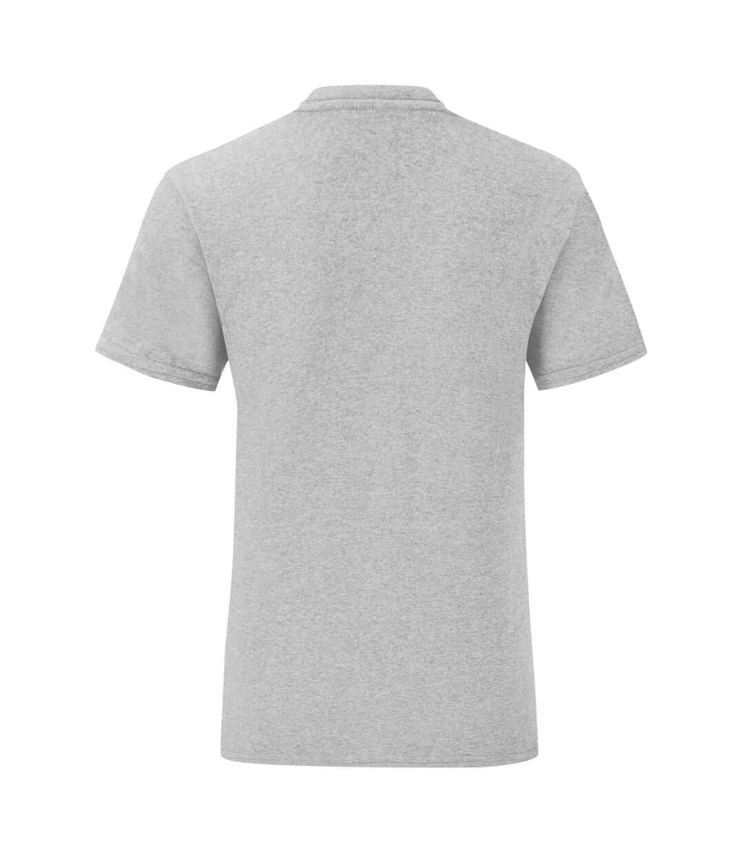 Fruit Of The Loom Mens Iconic T-Shirt (Pack Of 5) (Zinc Grey) - UTPC4369