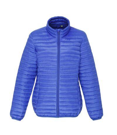 2786 Womens/Ladies Tribe Hooded Fineline Padded Jacket (Navy) - UTRW3847