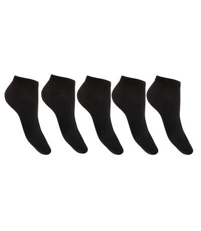 Floso Womens/Ladies Trainer Socks (Pack Of 5) (Black) - UTW452