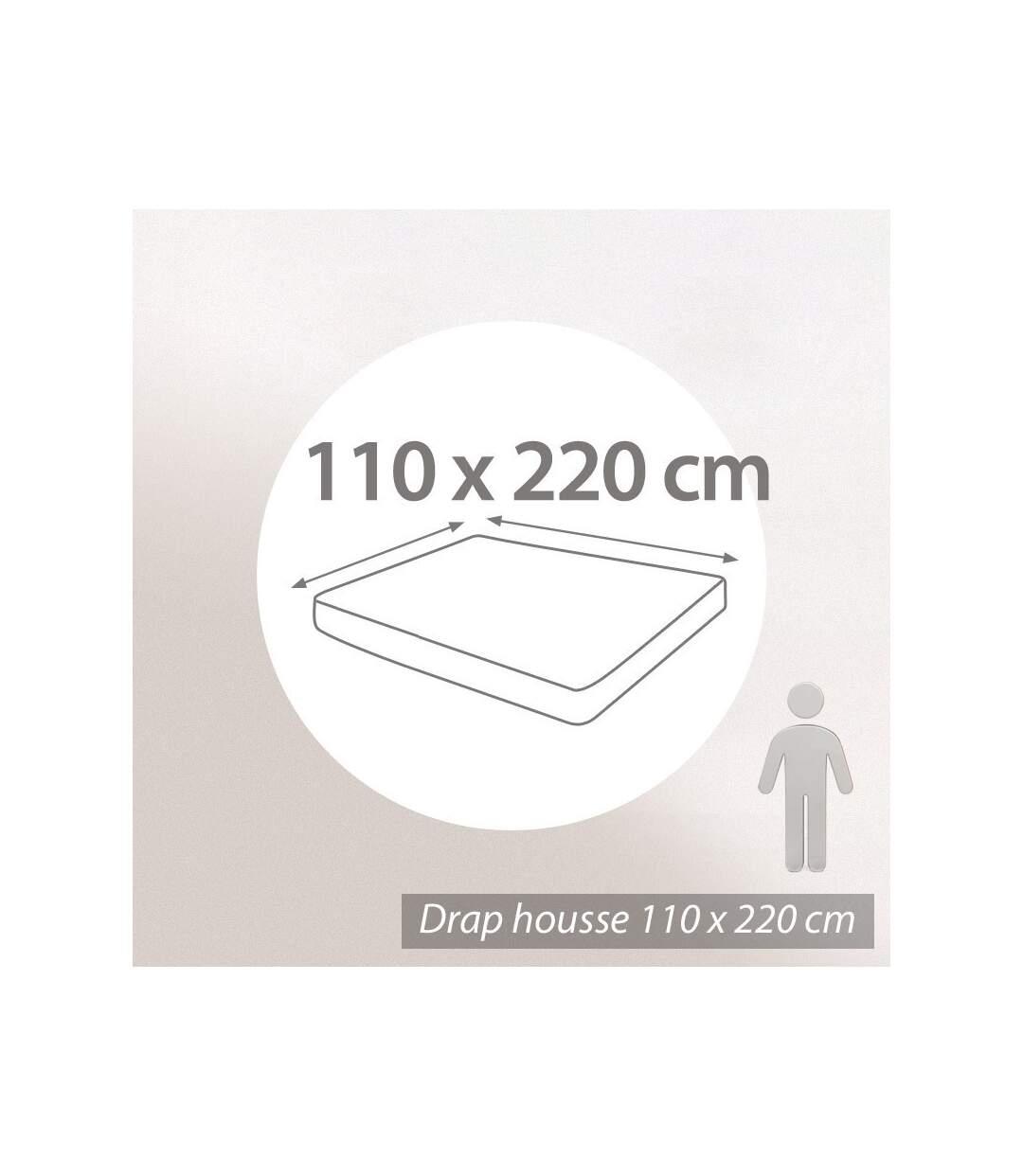 Protège matelas 110x220 cm ANTONIN Molleton absorbant traité anti-acariens Bonnet 30cm