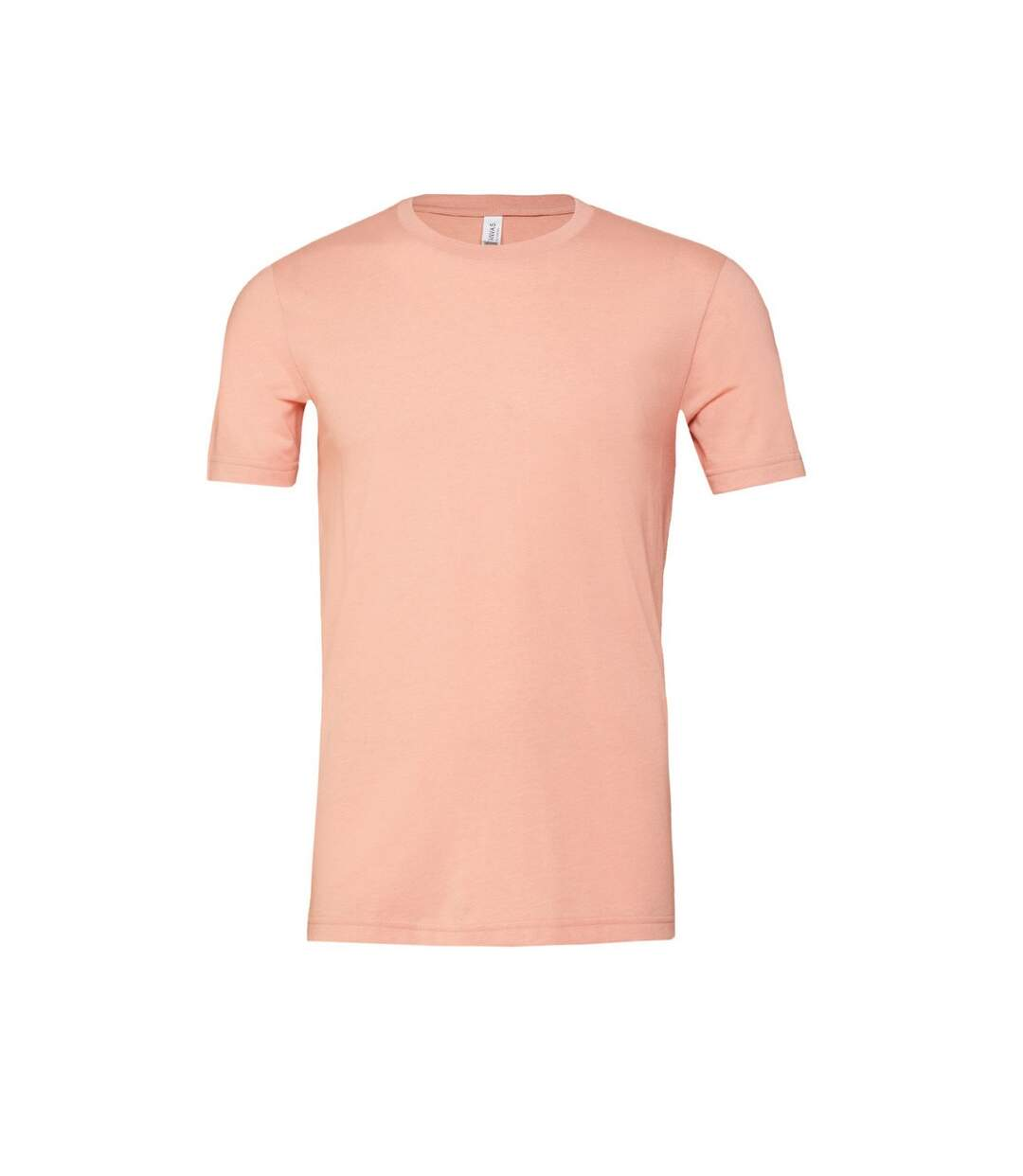 Canvas Unisex Jersey Crew Neck T-Shirt / Mens Short Sleeve T-Shirt (Heather Peach) - UTBC163