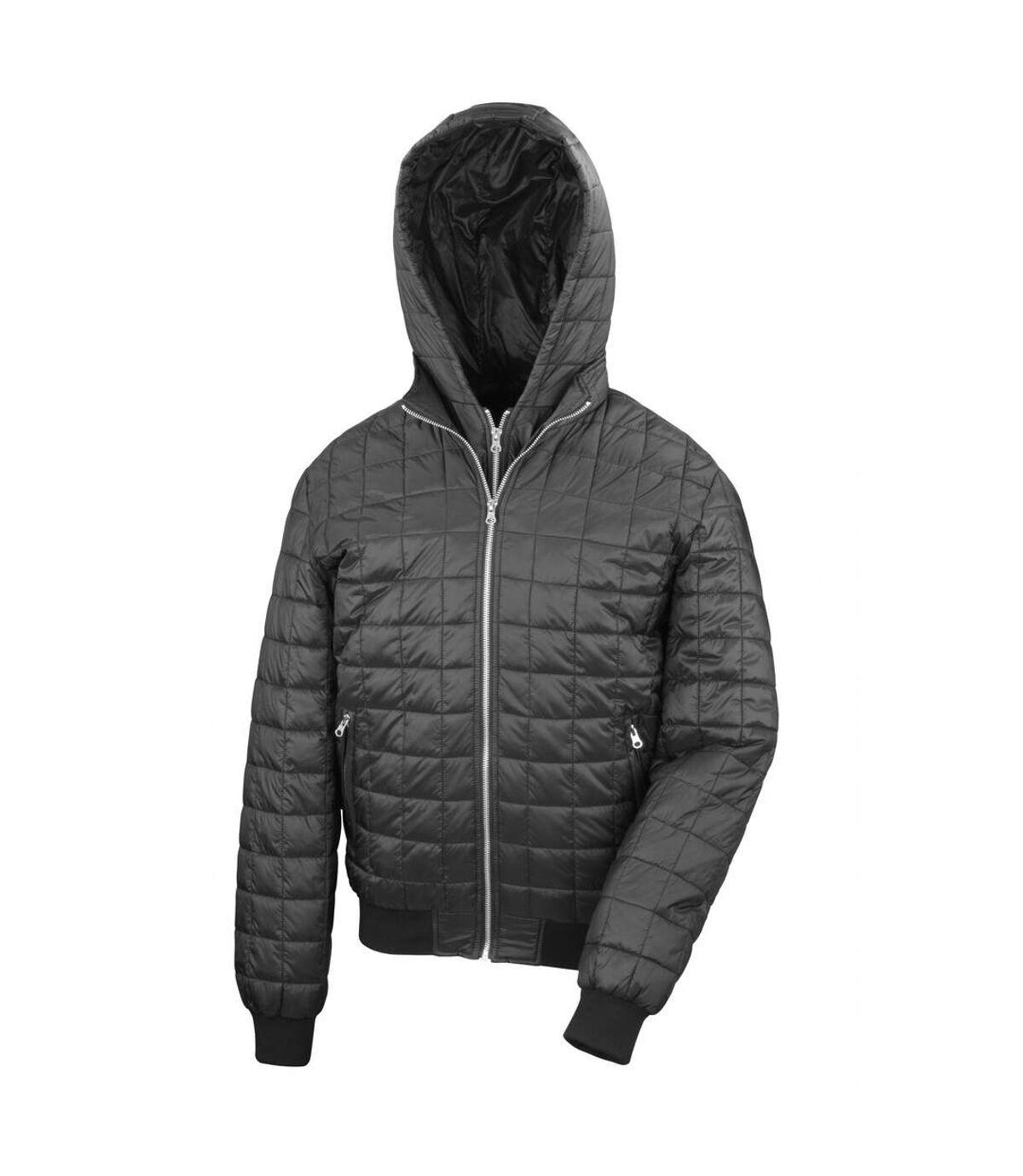 Result Mens Urban Outdoor Stealth Hooded Jacket (Black) - UTRW5160