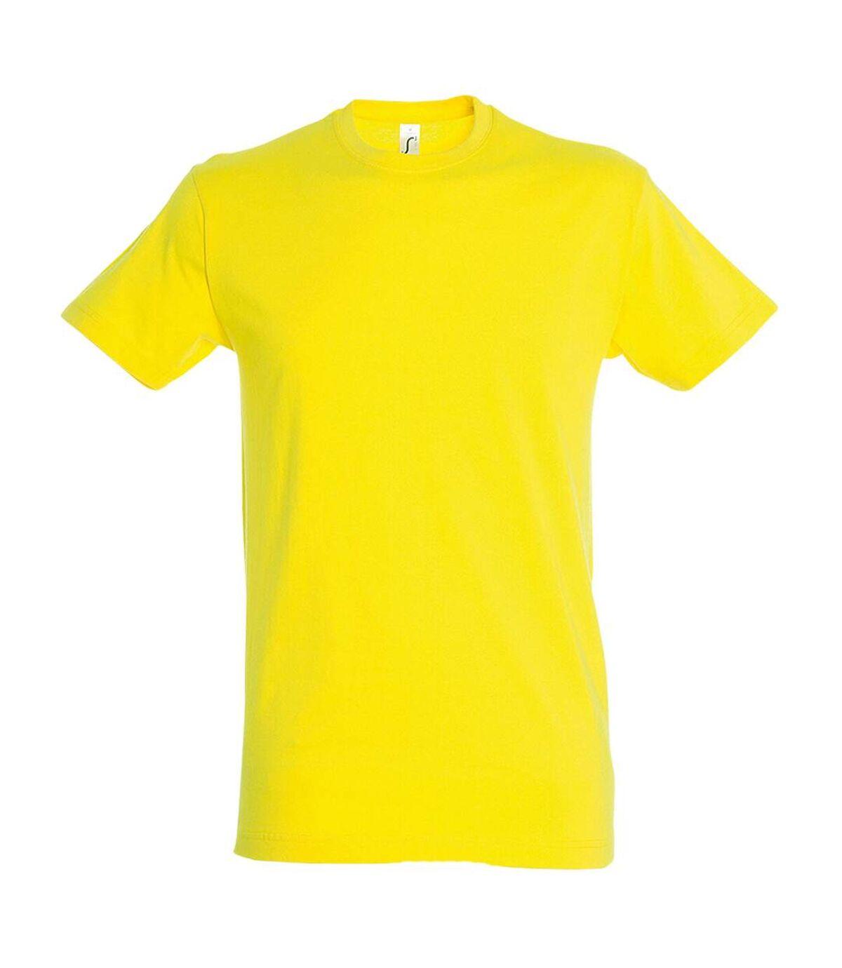 SOLS Mens Regent Short Sleeve T-Shirt (Lemon) - UTPC288