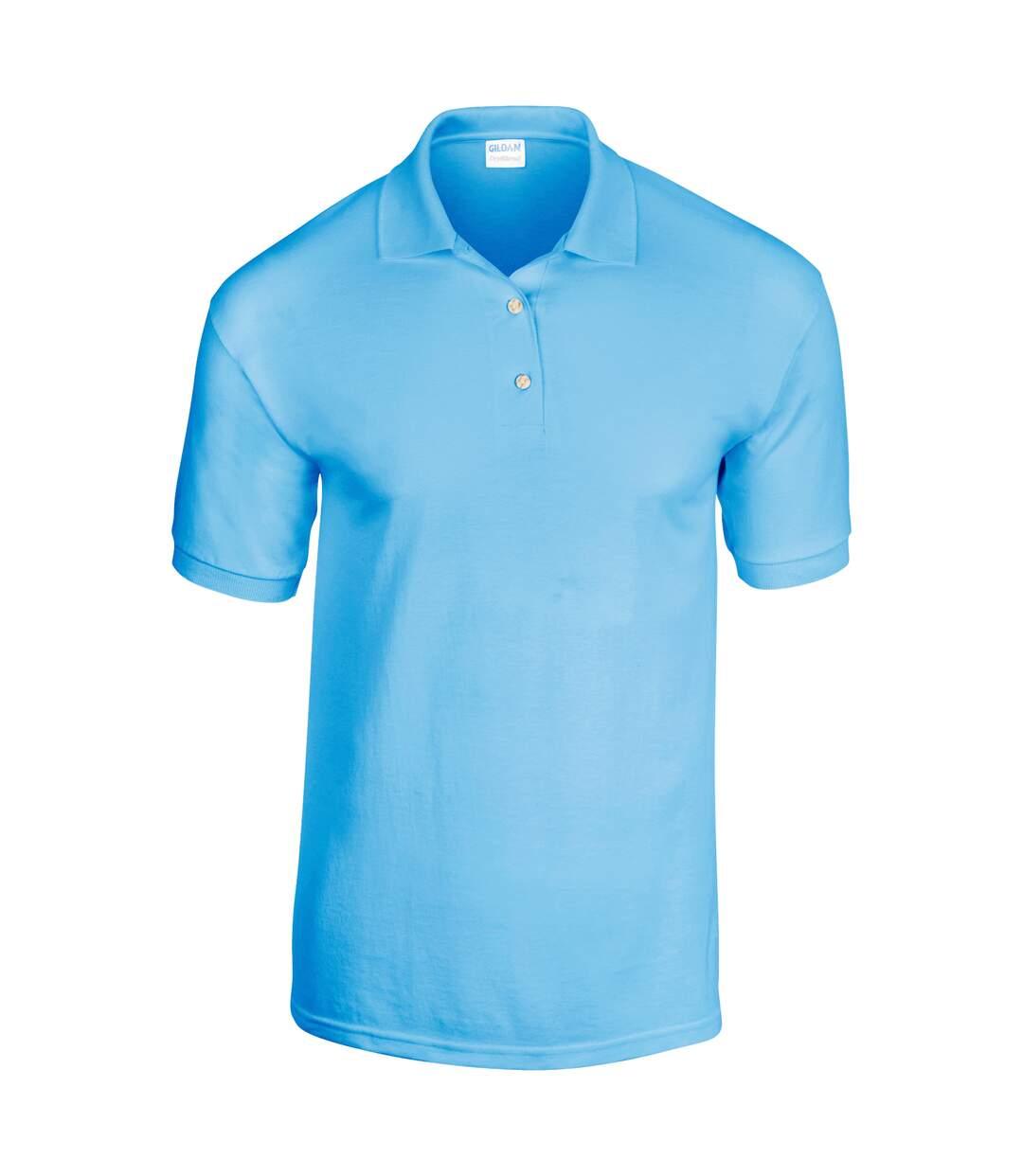 Gildan Adult DryBlend Jersey Short Sleeve Polo Shirt (Navy) - UTBC496