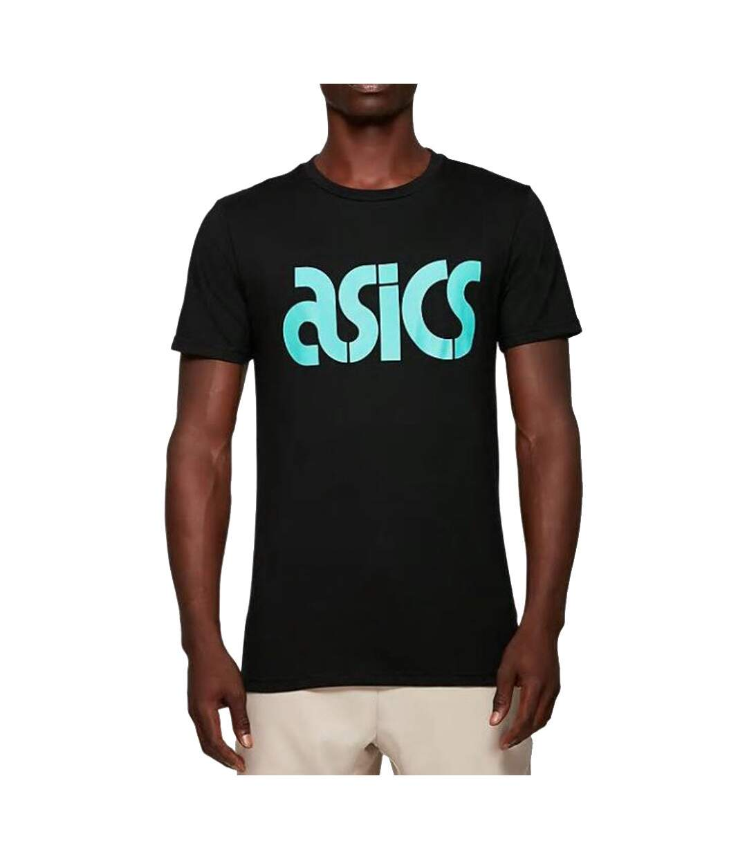 T-Shirt noir homme Asics AT Graphic SS Tee