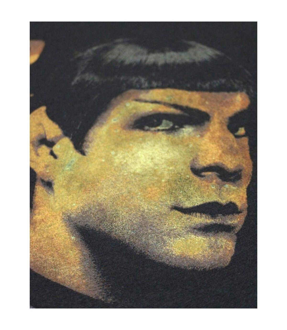 Junk Food Mens Portrait Spock Star Trek T-Shirt (Black) - UTNS5575