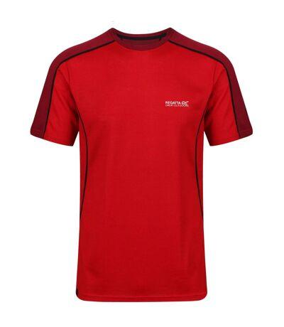 Regatta - T-shirt manches courtes TORNELL - Homme (Rouge/Bordeaux) - UTRG4155