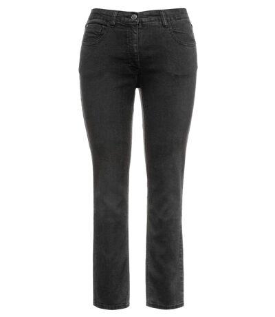 ULLA POPKEN Jeans Sarah 5-pocket stretch narrow leg noir NEW