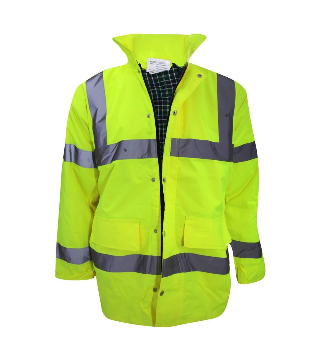 Yoko Mens Hi-Vis Contractor Jacket (Hi-Vis Yellow) - UTBC1256