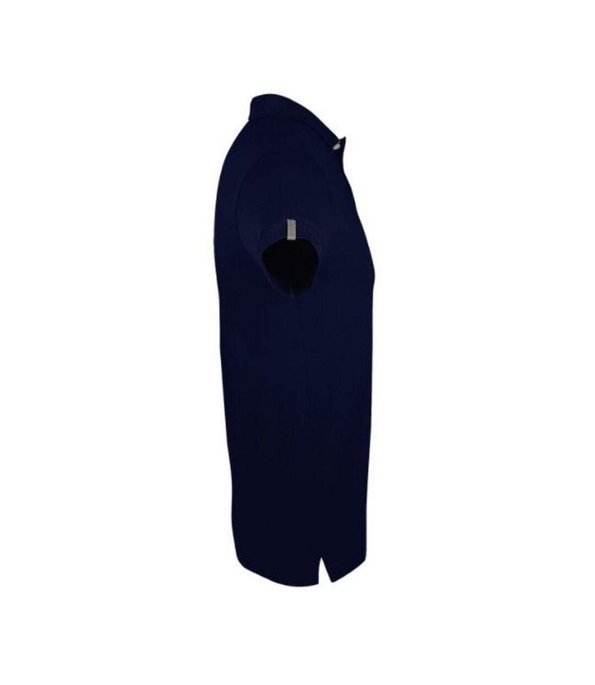 SOLS Mens Portland Short Sleeve Pique Polo Shirt (French Navy) - UTPC2183