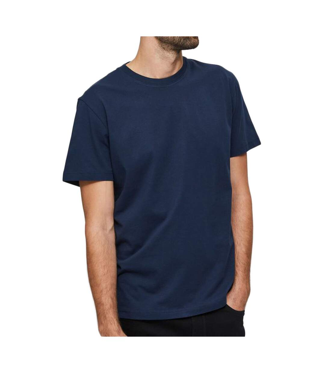 T-Shirt marine homme Selected SLHNORMAN180