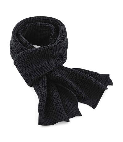 Beechfield Unisex Classic Waffle Knit Winter Scarf (Black) (One Size) - UTRW3665