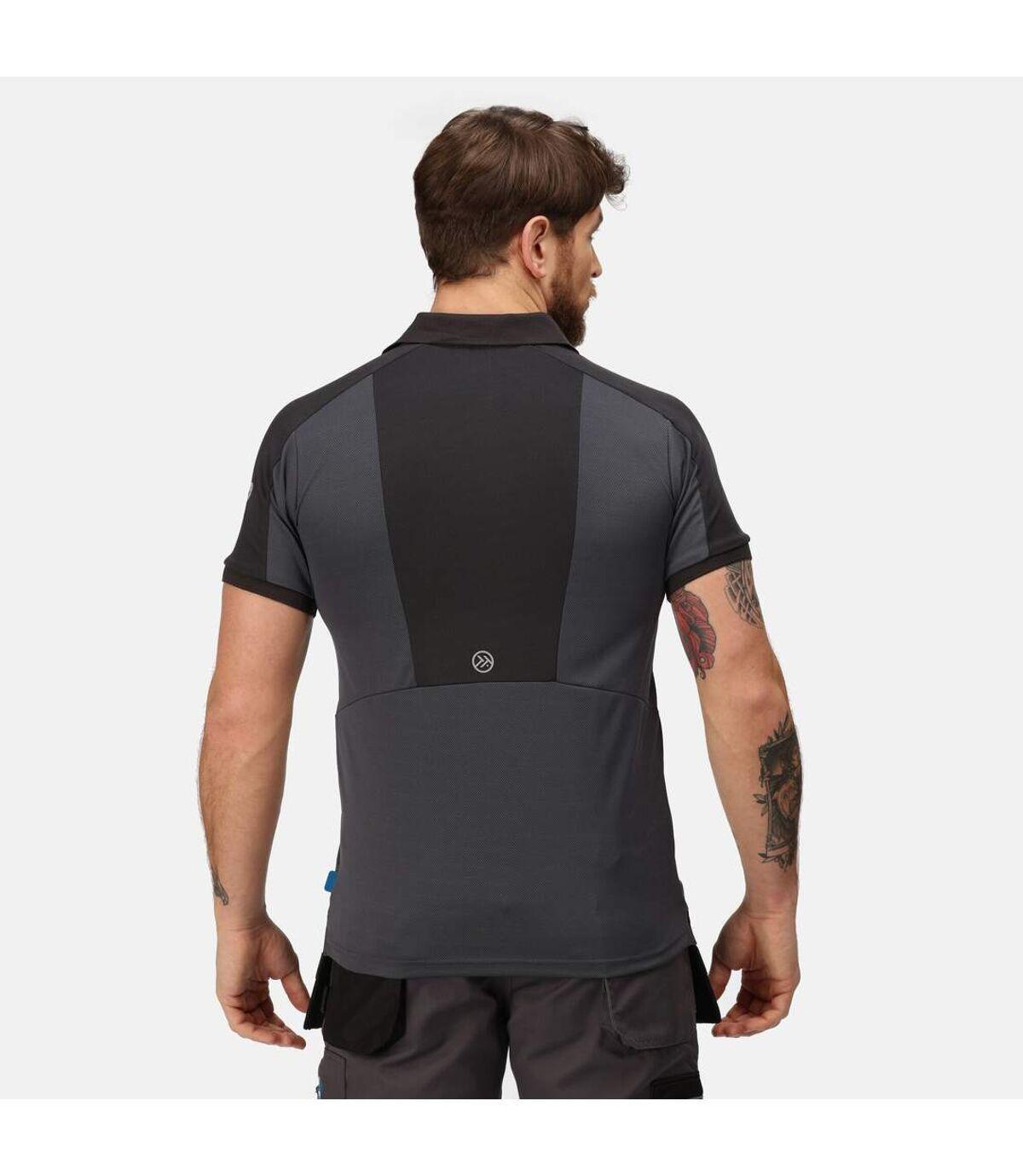 Regatta Mens Offensive Wicking Polo Shirt (Seal Grey) - UTRG3572