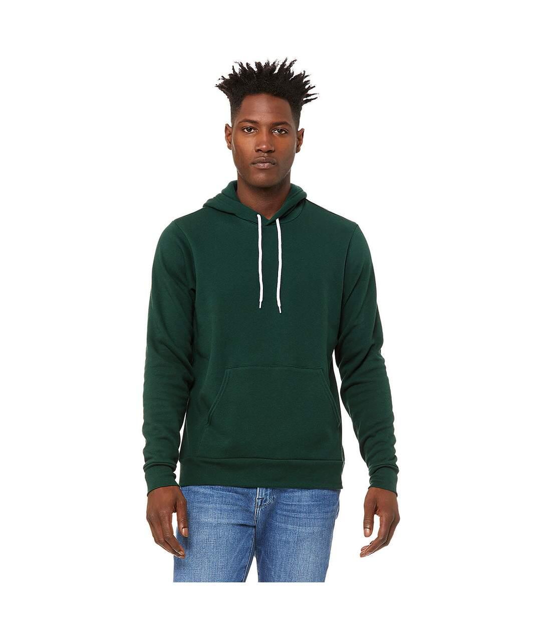 Bella + Canvas Unisex Pullover Polycotton Fleece Hooded Sweatshirt / Hoodie (White) - UTBC1336