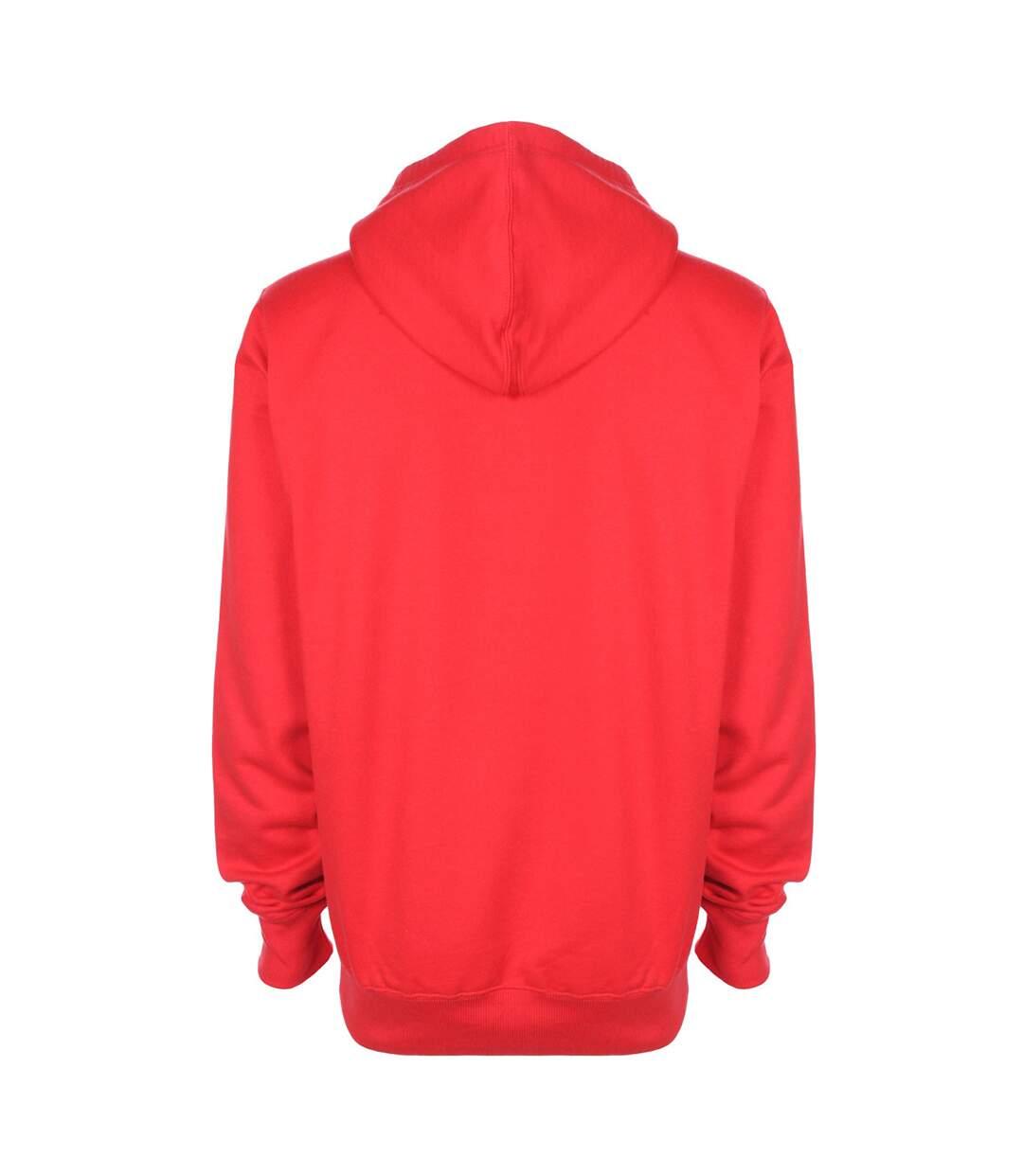 FDM Unisex Plain Original Hooded Sweatshirt / Hoodie (300 GSM) (Fire Red) - UTBC2024