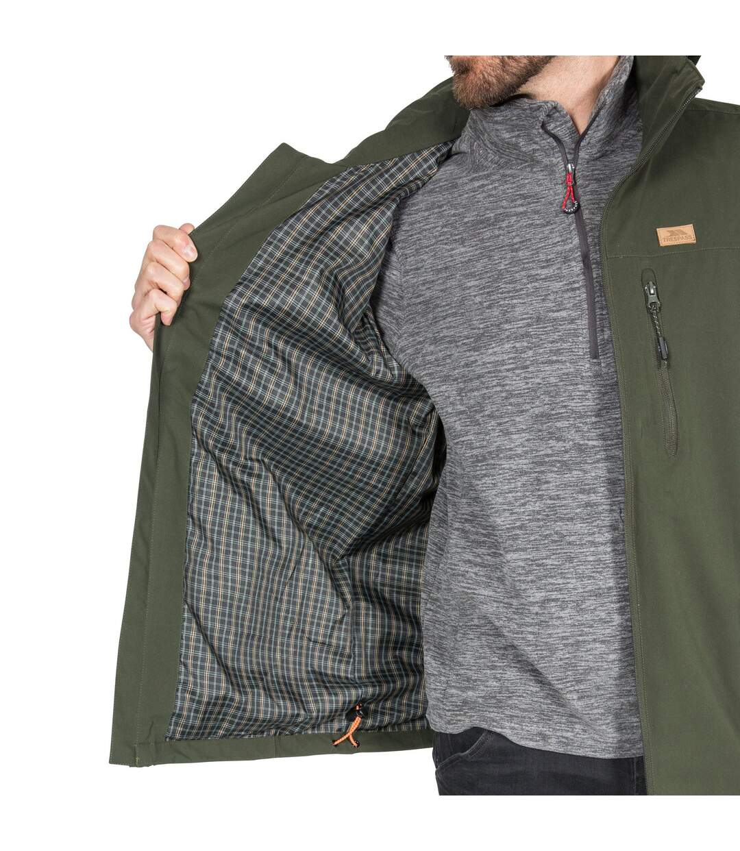 Trespass Mens Weir Waterproof Jacket (Olive) - UTTP4592