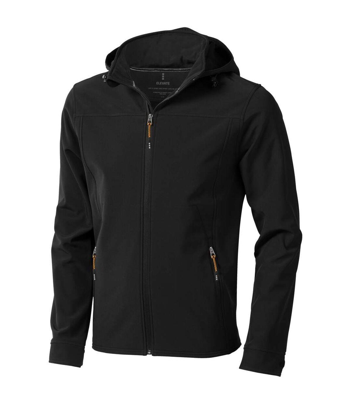 Elevate Mens Langley Softshell Jacket (Solid Black) - UTPF1907