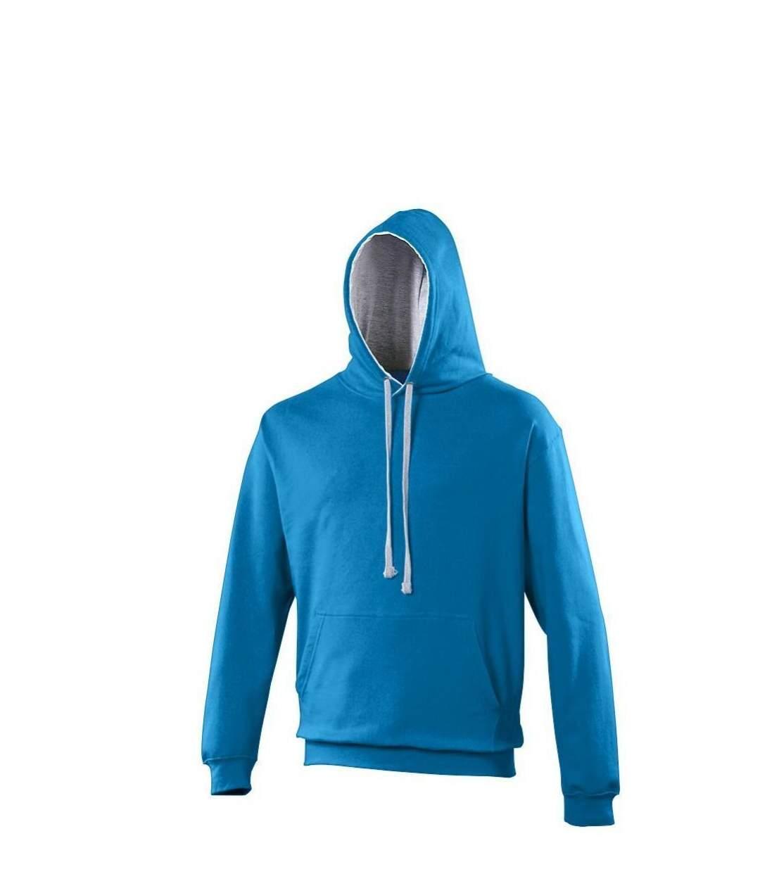 Sweat à capuche contrastée unisexe - JH003 - bleu roi et gris
