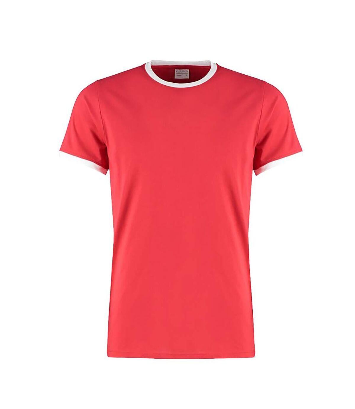 Kustom Kit Mens Fashion Fit Ringer T-Shirt (Red/White) - UTPC3837
