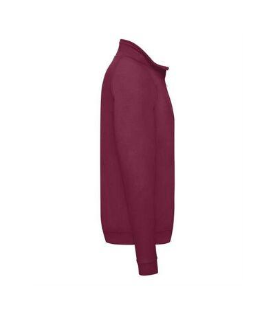 Fruit Of The Loom Mens Zip Neck Sweatshirt (Dark Heather) - UTBC358