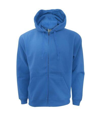 Fruit Of The Loom Mens Zip Through Hooded Sweatshirt / Hoodie (Burgundy) - UTBC360