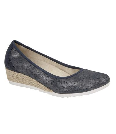 Cipriata Womens/Ladies Benedetta Shoes (Blue Metallic) - UTDF1568