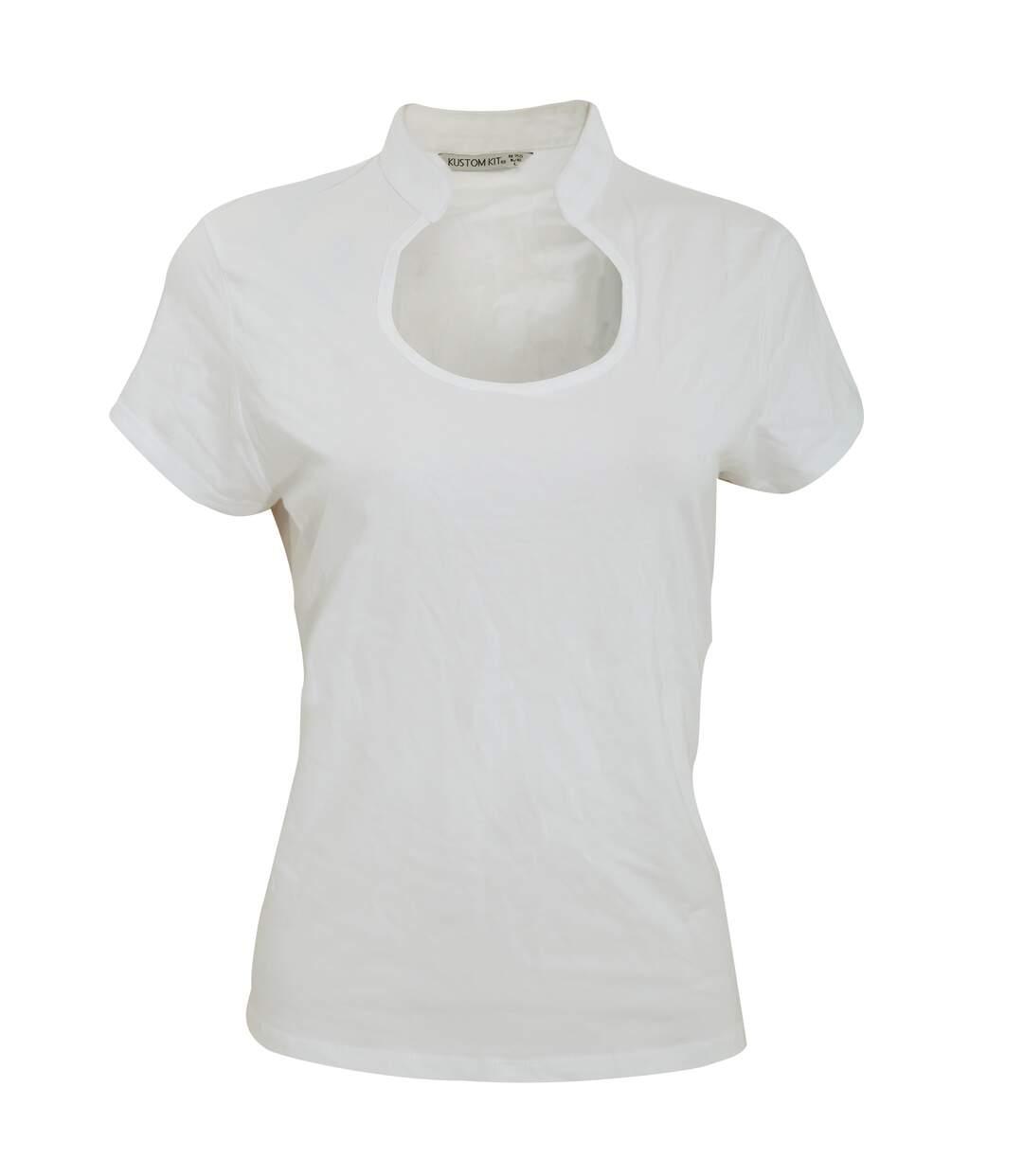 Kustom Kit - T-Shirt À Manches Courtes Et Col Mandarin - Femme (Blanc) - UTRW3178