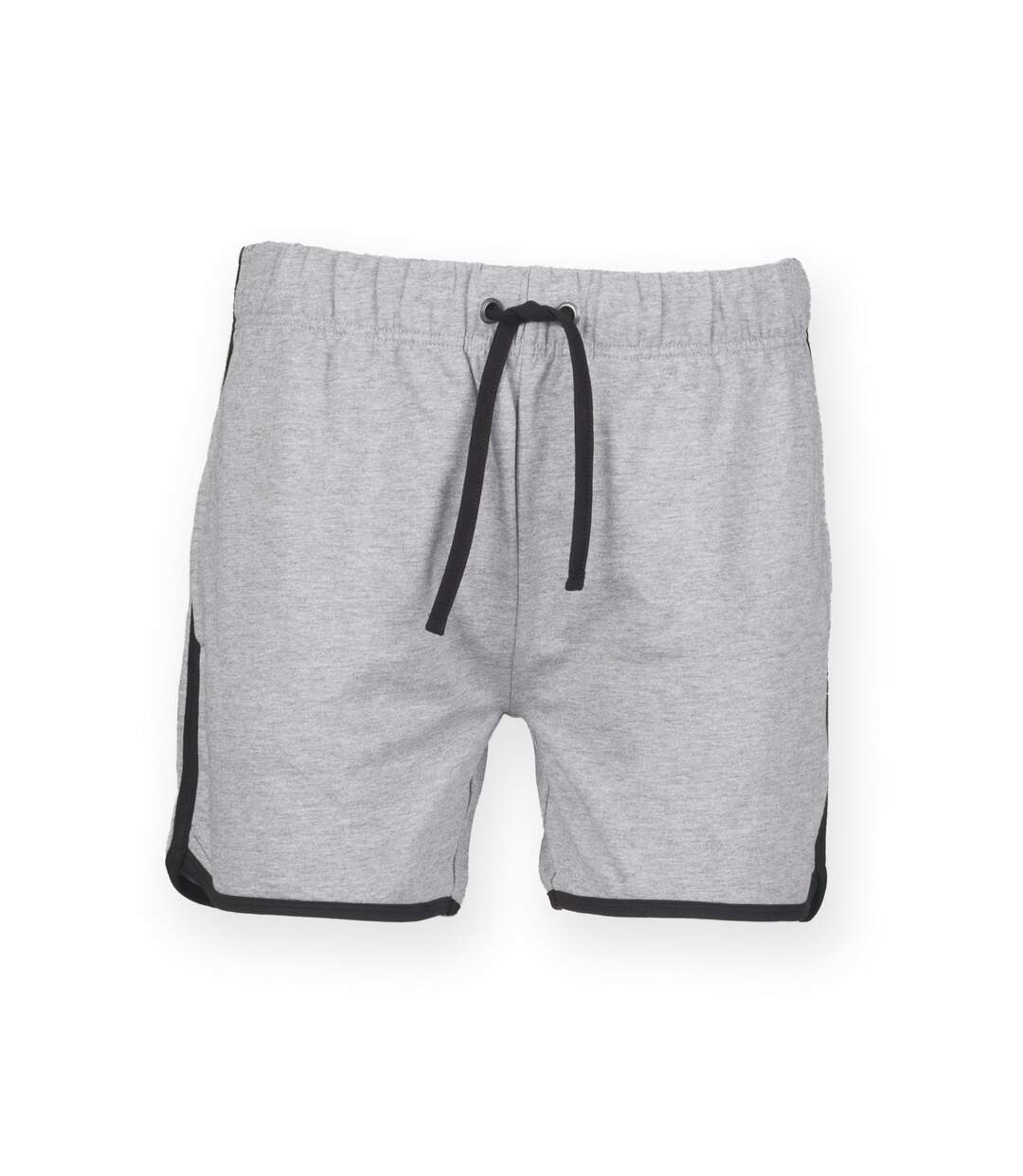 Skinnifit Mens Retro Training Fitness Shorts (Heather Grey / Black) - UTRW4749