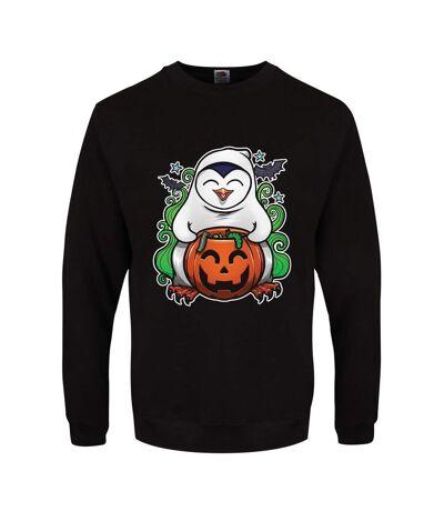 Psycho Penguin Mens Pumpkin Potion Halloween Jumper (Black) - UTGR2867
