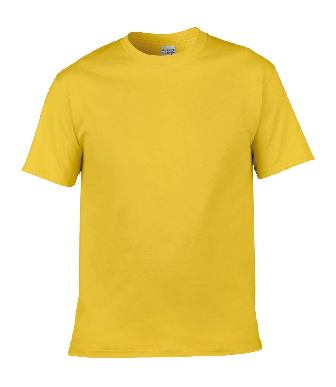 Gildan Mens Soft Style Ringspun T Shirt (Heather Indigo) - UTPC2882