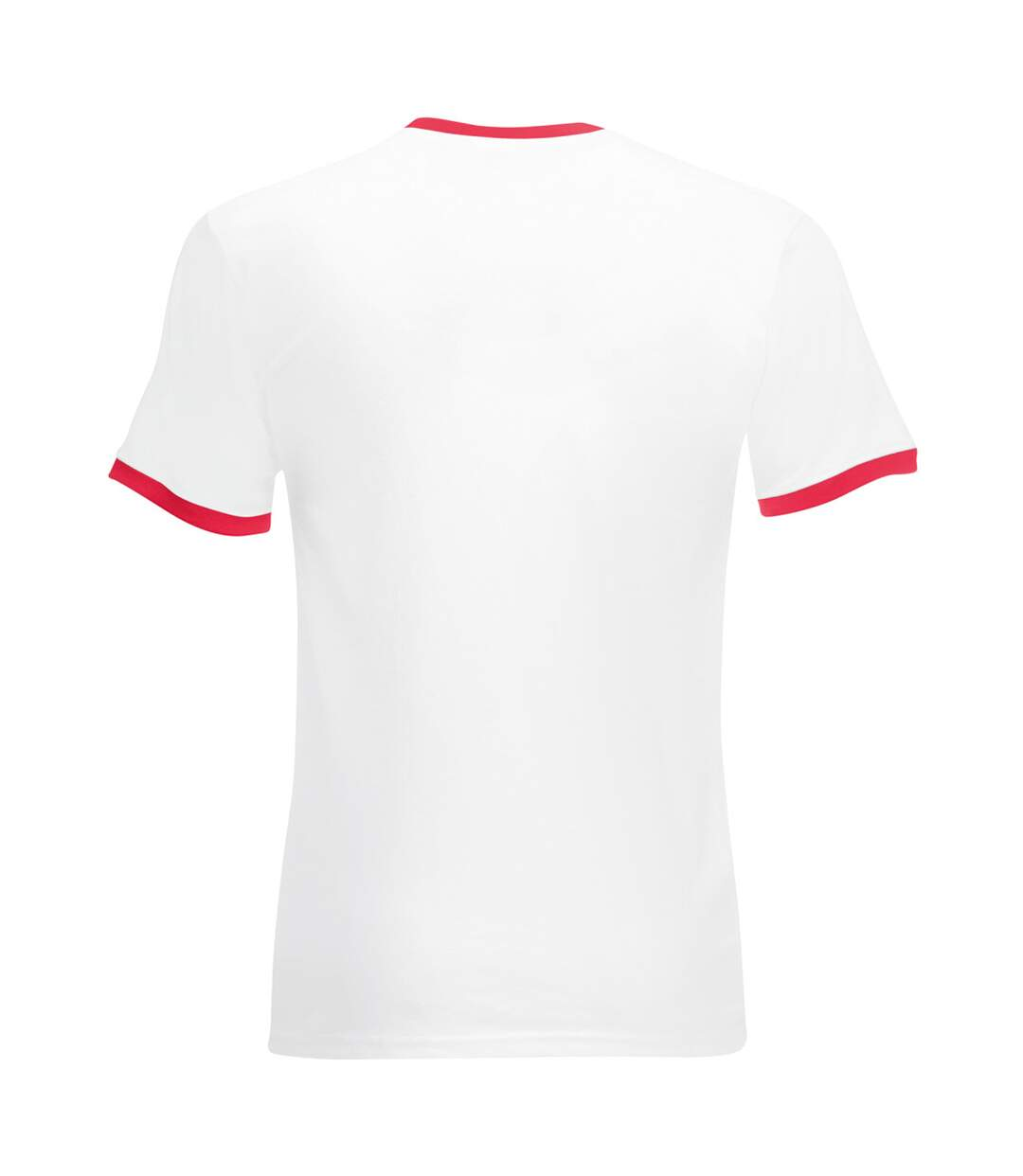 Fruit Of The Loom Mens Ringer Short Sleeve T-Shirt (White/Red) - UTBC342