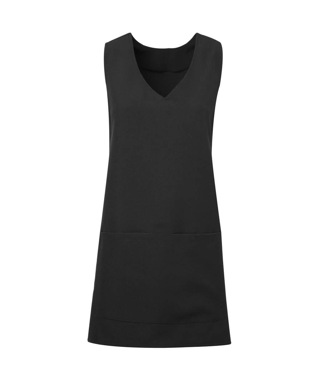 Premier Unisex Wrap-Around Tunic (Black) - UTRW5594