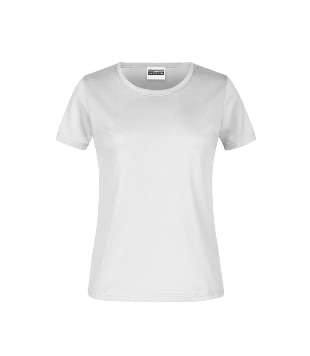 James And Nicholson - T-Shirt Basique - Femme (Blanc) - UTFU957