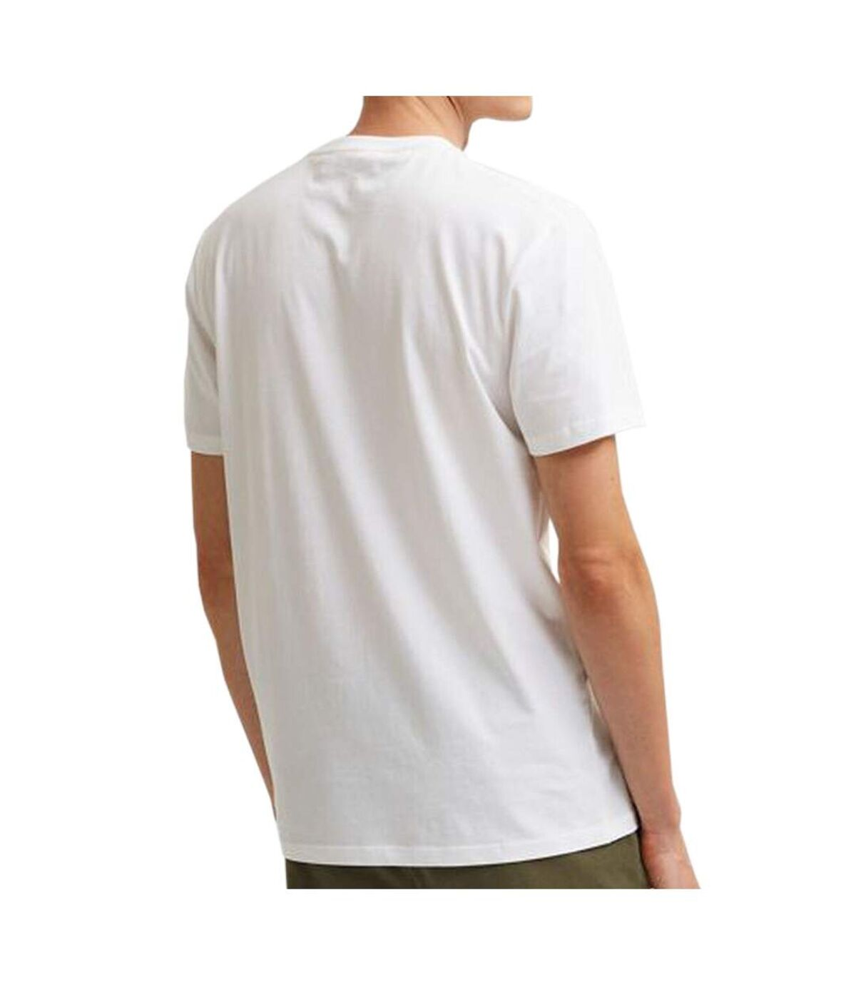 T-shirt Blanc Homme Selected Fate