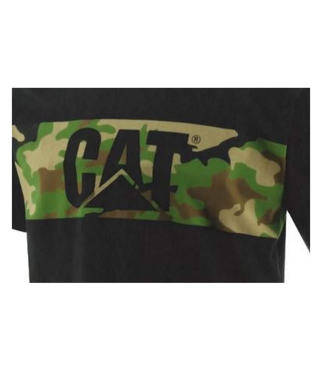 Caterpillar Mens Camo Print Tee (Black/Camo) - UTFS7135