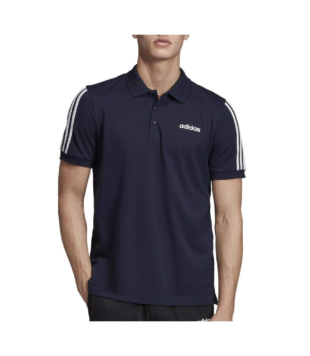 Polo marine homme Adidas M Cot Polo 3S