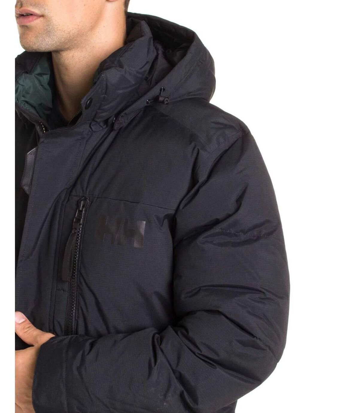 Parka imperméable homme noir 53074 capuche amovible