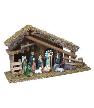 Crèche de Noël traditionnel - 10 Santons