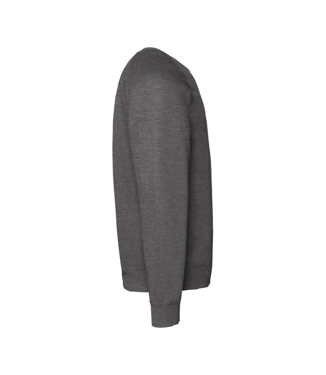 Fruit Of The Loom Mens Raglan Sleeve Belcoro® Sweatshirt (Dark Heather) - UTBC368