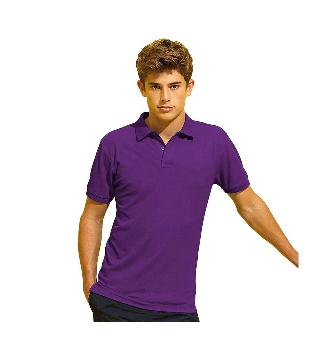 Asquith & Fox Mens Short Sleeve Performance Blend Polo Shirt (Purple) - UTRW5350