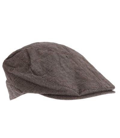 Tom Franks Mens Check Flat Cap (Brown/Beige) - UTHA581