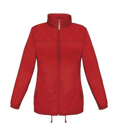 Coupe vent imperméable femme - JW902 - rouge