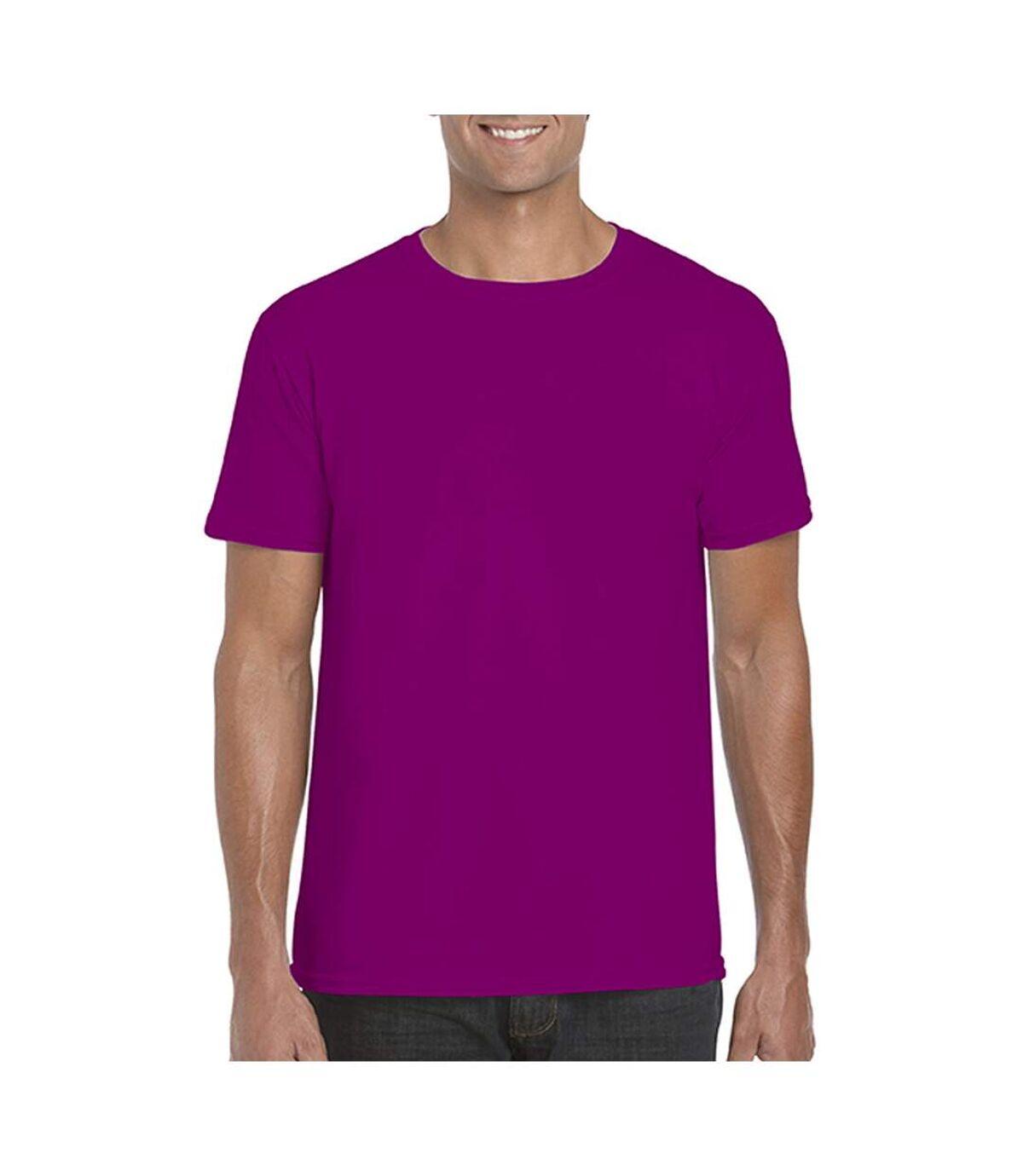 Gildan Mens Short Sleeve Soft-Style T-Shirt (Heather Navy) - UTBC484