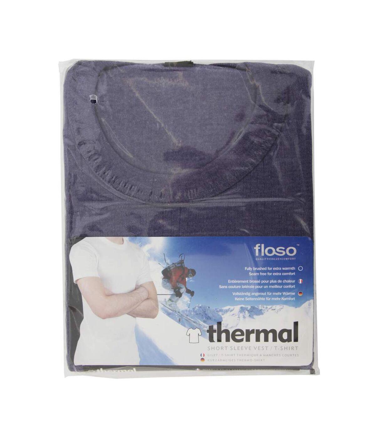 FLOSO - T-shirt thermique à manches courtes (standard) - Homme (Denim foncé) - UTTHERM111