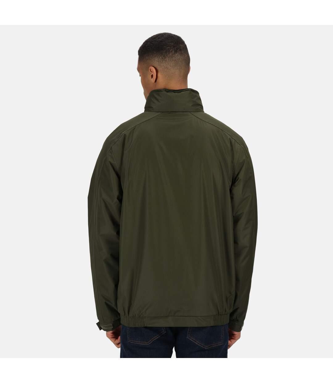 Regatta Dover Waterproof Windproof Jacket (Thermo-Guard Insulation) (Dark Khaki/Black) - UTRG1425