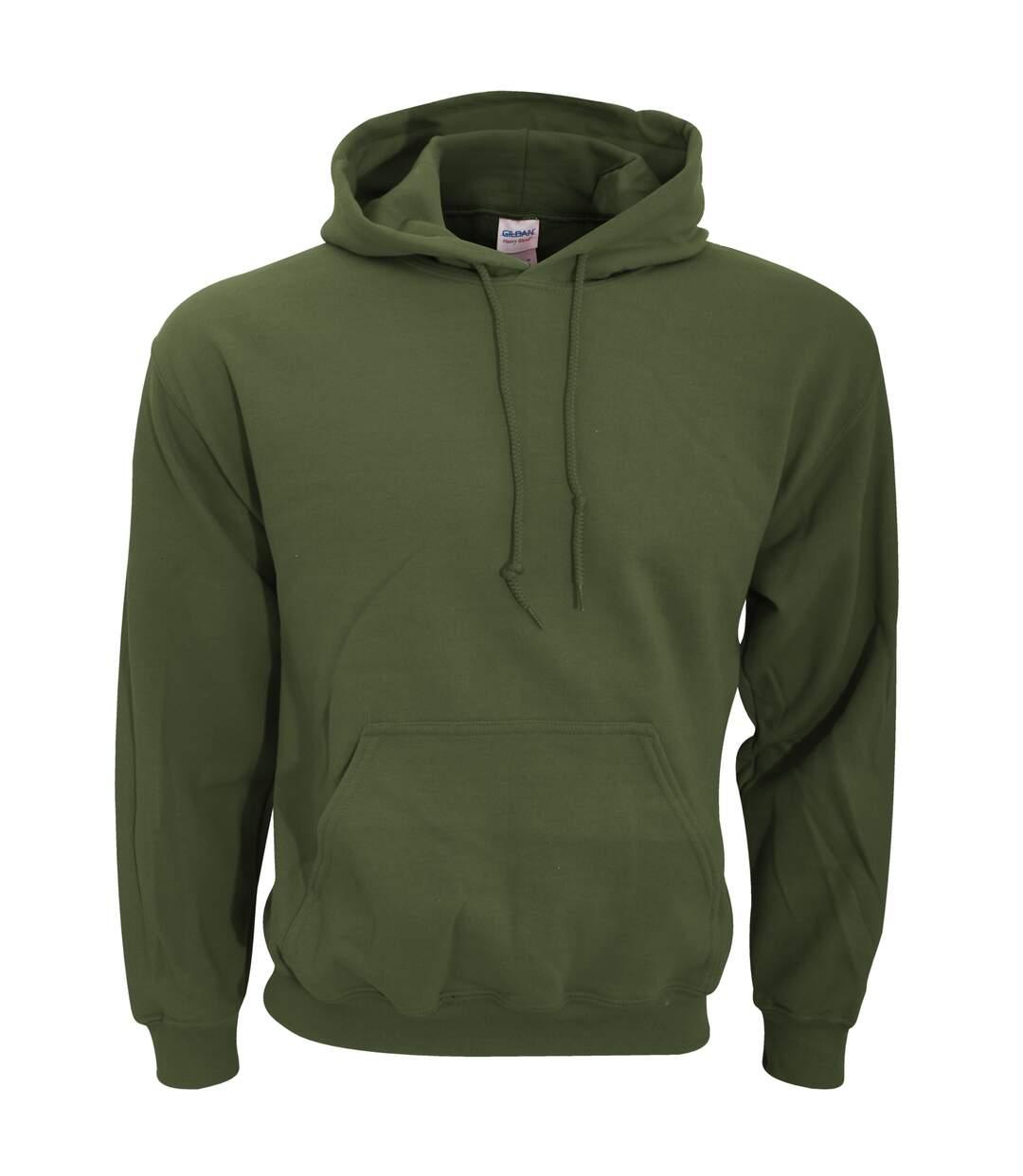 Gildan Heavy Blend Adult Unisex Hooded Sweatshirt / Hoodie (Dark Heather) - UTBC468