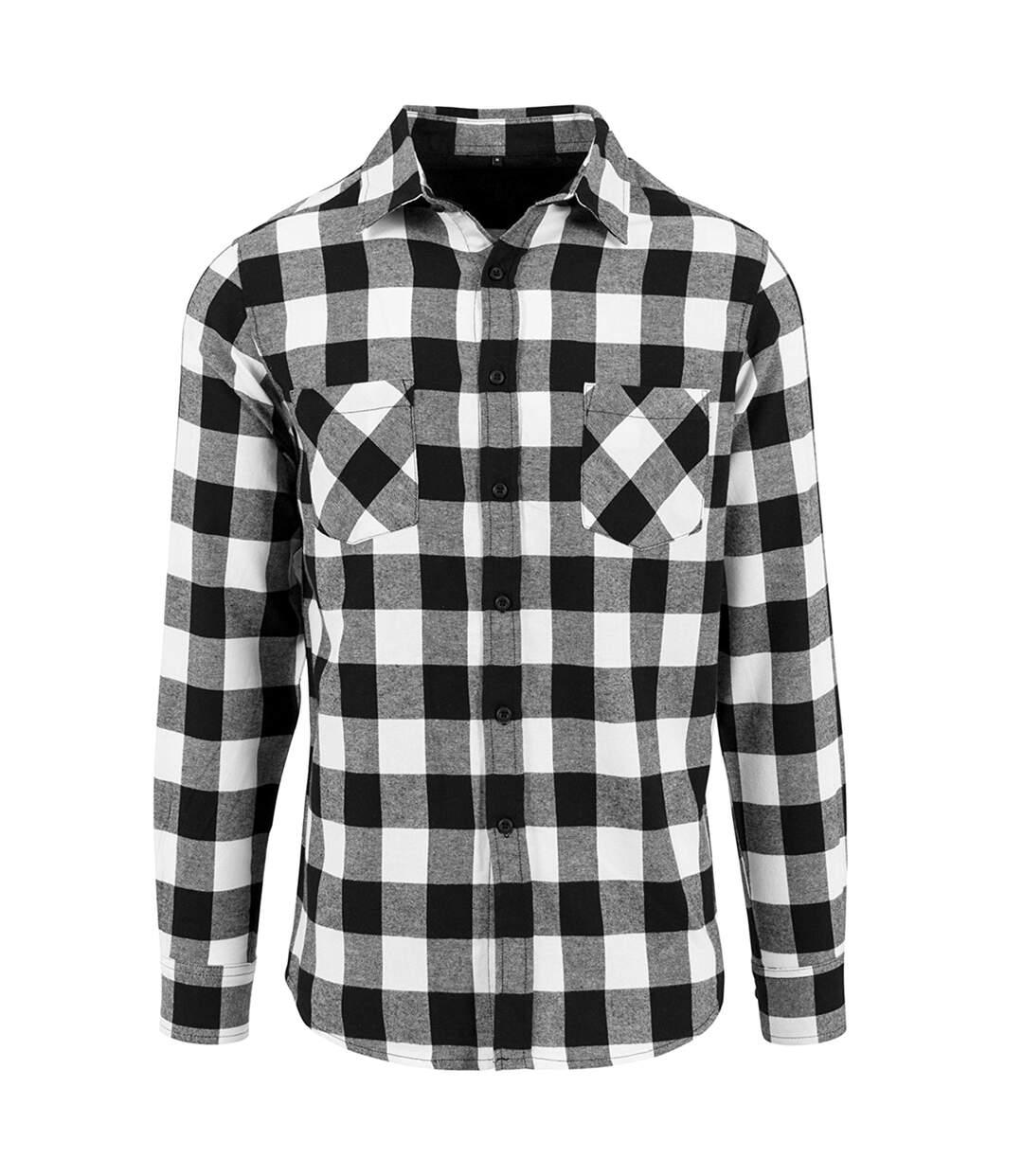 Build Your Brand - Chemise À Carreaux - Homme (Noir/Blanc) - UTRW5669